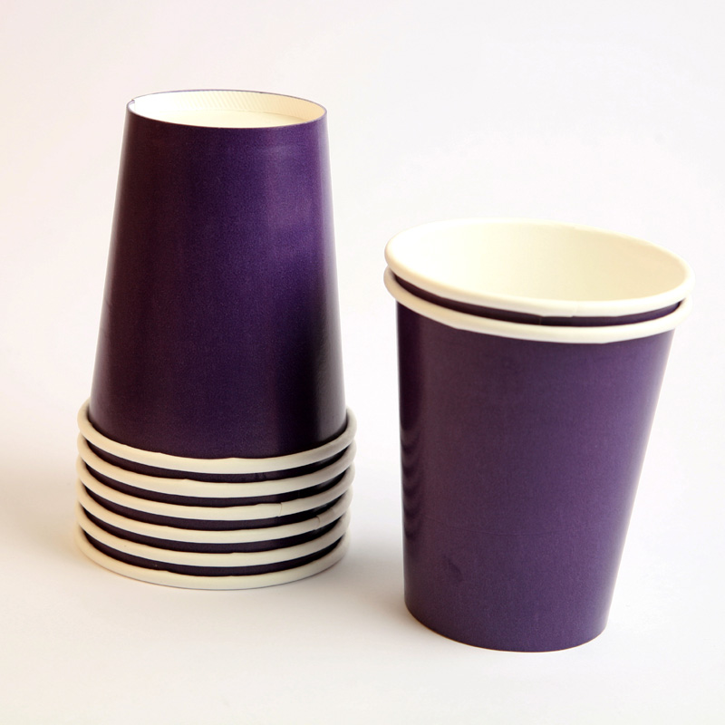 8 purple cups