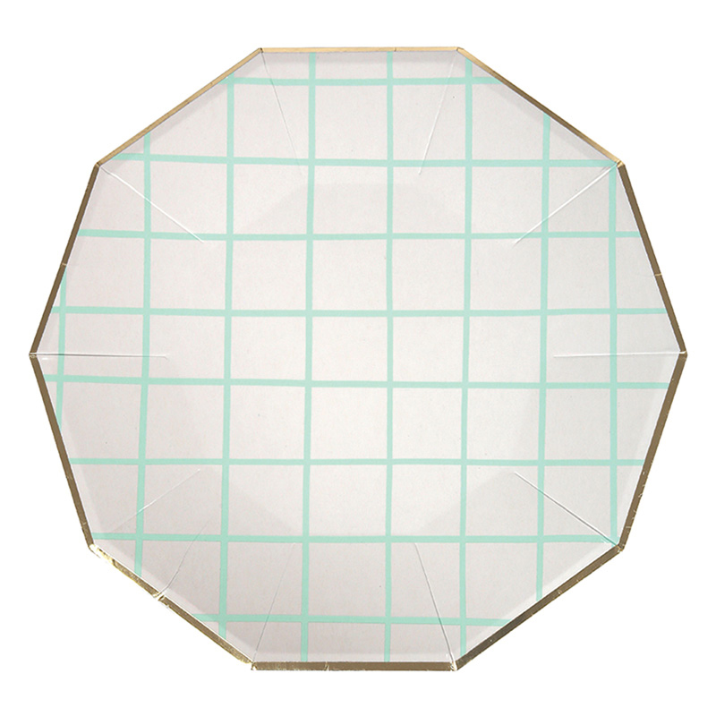 Large Mint Grid Plates