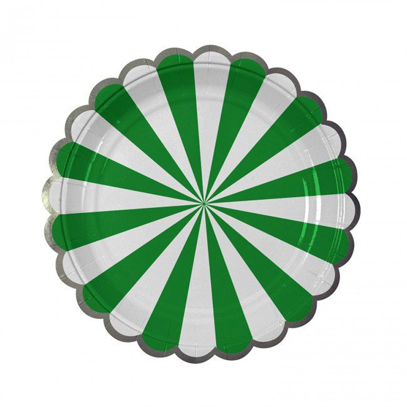 Green Striped small Plate