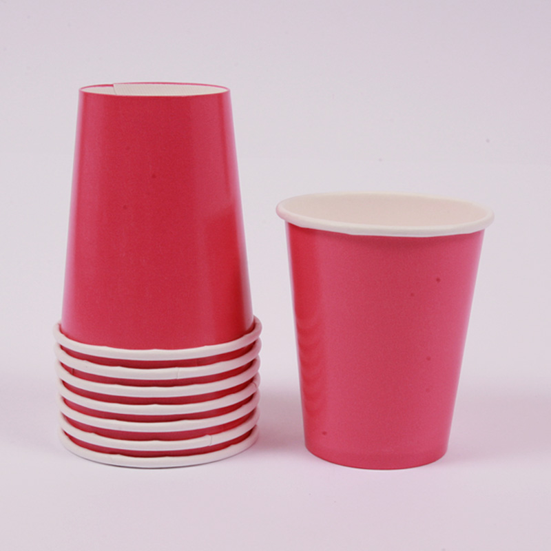 8 hot pink cups
