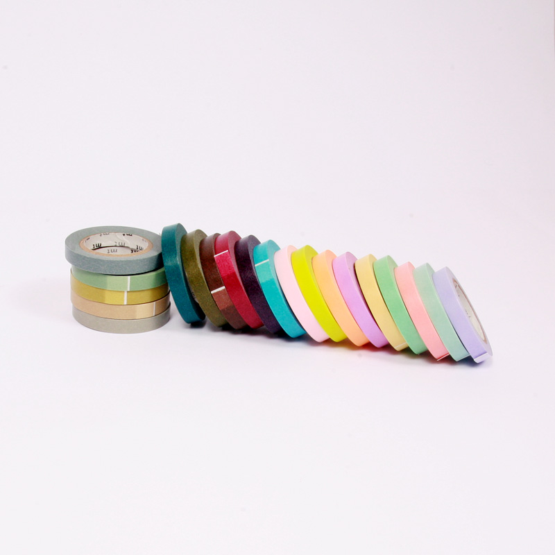 Slim washi tape - set of 20 rolls