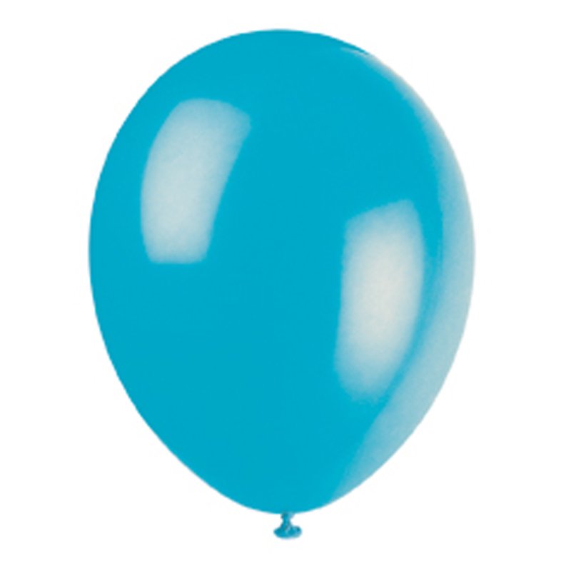 pack of 10 turquoise balloons