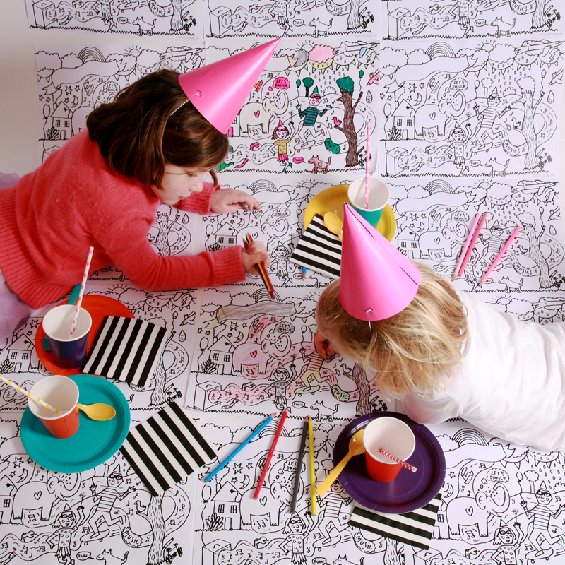 colour-in party kit