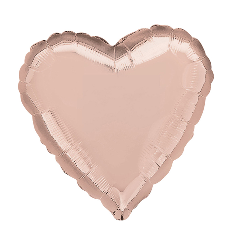 Rose gold heart shaped foil balloon