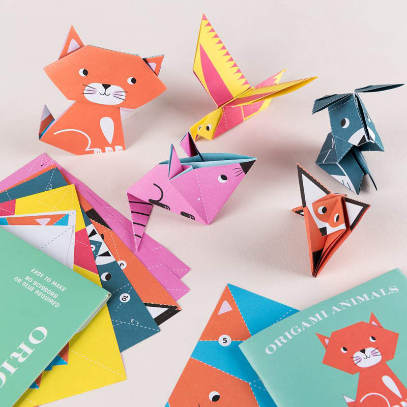 Set of 24 Origami Animals