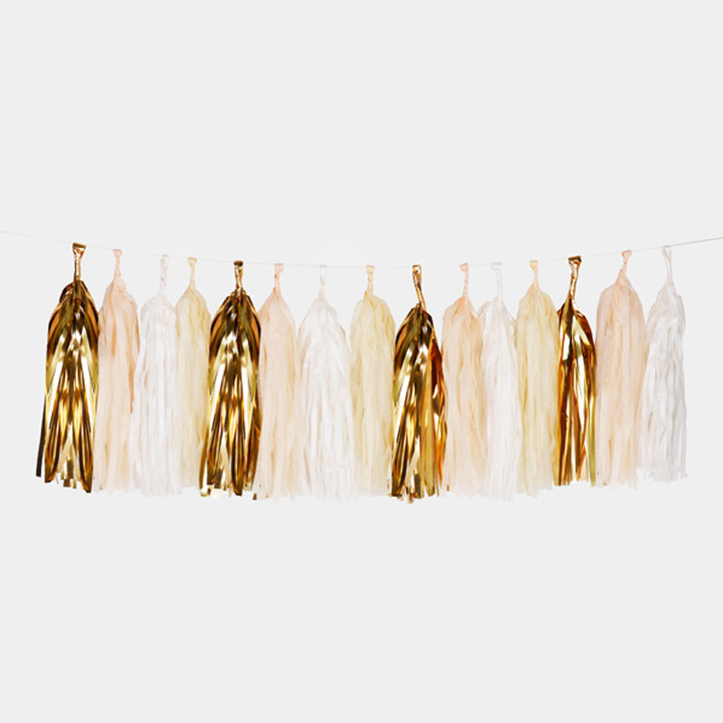 powder tassel garland