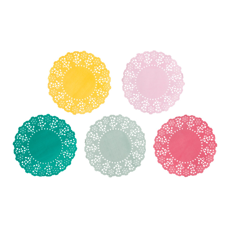 colourful mini doilies