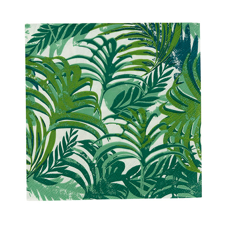 20 tropical leaf paper napkins
