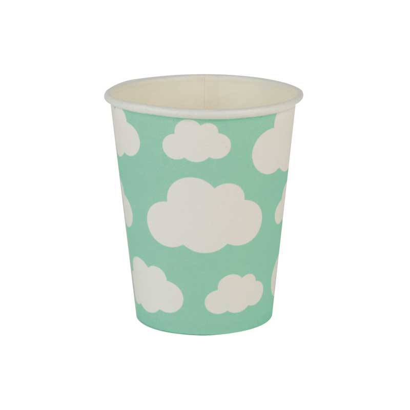8 aqua cloud cups