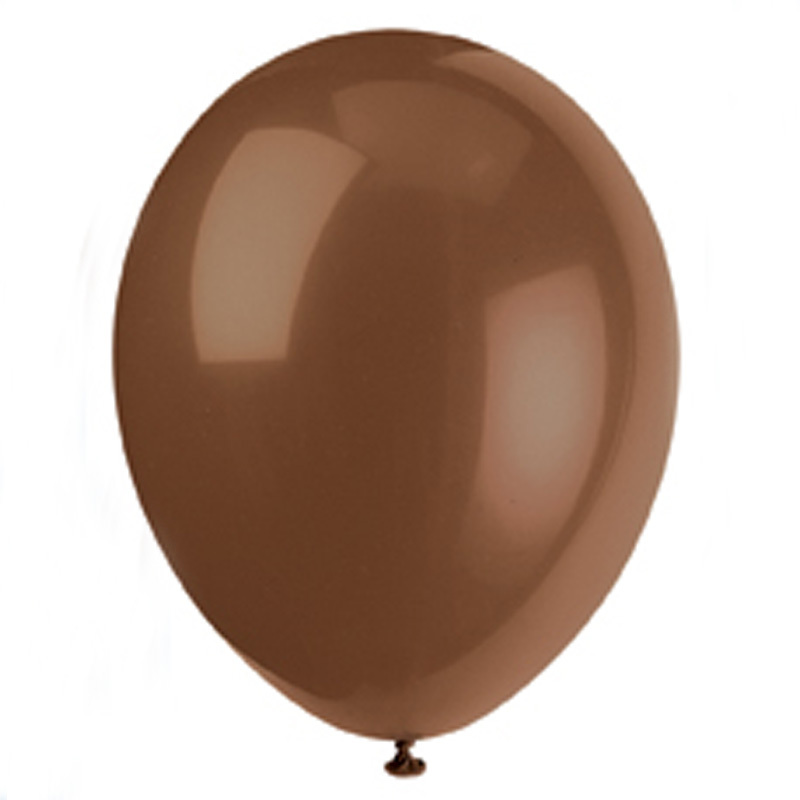 pack of 10 chocolate brown balloons
