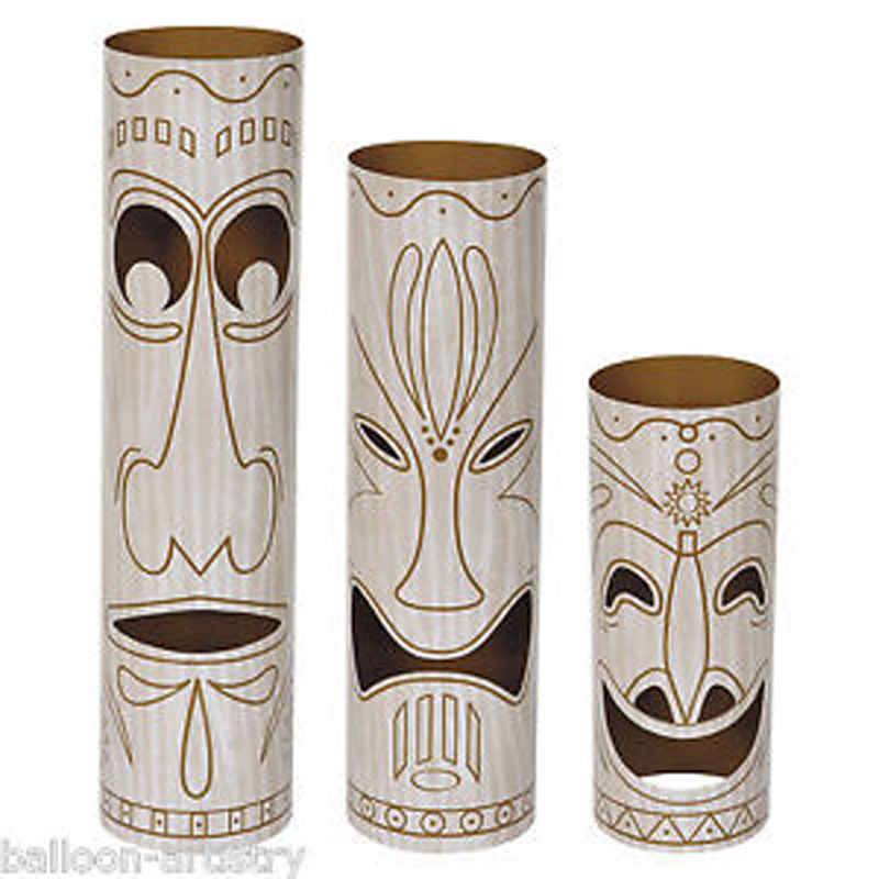 Tiki Totem Pole Table Centerpieces
