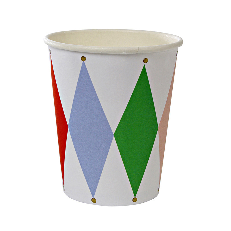 8 Harlequin Pattern Party Cup